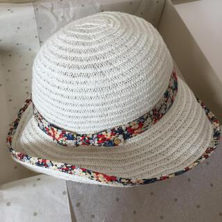 クミキョク(kumikyoku(組曲))の組曲 KUMIKYOKU キッズ リバティ柄リボン付 帽子 54cm(帽子)