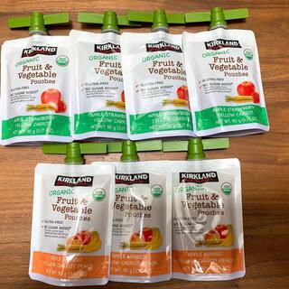 コストコ(コストコ)のコストコ  オーガニック フルーツ&ベジタブル パウチ7本セット(フルーツ)