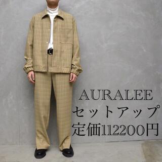 1LDK SELECT - 定価112200円 AURALEE セットアップ チェック ブルゾン スラックス