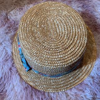 アイ(i)の女の子 麦わら帽子 リボン ビケットクラブ 52cm(帽子)