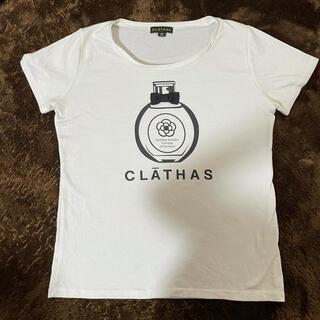 クレイサス(CLATHAS)のclathas ホワイトTシャツ(Tシャツ/カットソー(半袖/袖なし))