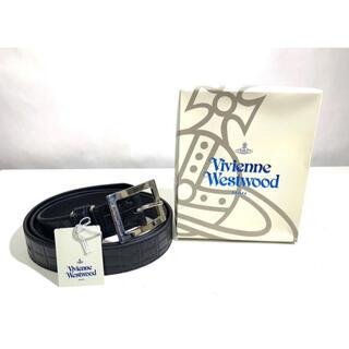 Vivienne Westwood - Vivienne Westwood MAN クロコ型押し 牛革デザインベルト 黒