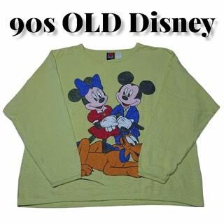 ディズニー(Disney)の90sDisney古着 サーマルロンTディズニーミッキーミニープルート(Tシャツ/カットソー(七分/長袖))