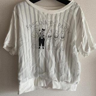 しろくま おじさん おじかわ 透けTシャツ(Tシャツ(半袖/袖なし))