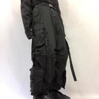 リックオウエンス(Rick Owens)の【UK Label テクノパンツ デッドストック】S ブラック 軍 ミリタリー(ワークパンツ/カーゴパンツ)