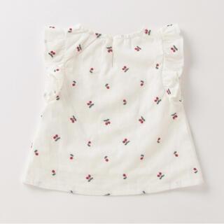 プティマイン(petit main)の新作 プティマイン フルーツ刺繍チュニック(Tシャツ/カットソー)