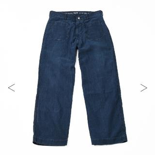 フォーティーファイブアールピーエム(45rpm)の大幅お値下げ⭕45R 45rpm⭕藍納戸おこめサテンの4ポケットパンツ(加工)(デニム/ジーンズ)