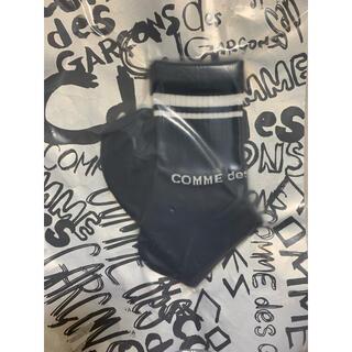 コムデギャルソン(COMME des GARCONS)の新品COMME des GARCONS コムデギャルソン靴下ソックスショート黒L(ソックス)