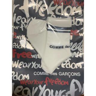 コムデギャルソン(COMME des GARCONS)の新品COMME des GARCONS コムデギャルソン靴下ソックスショートS白(ソックス)