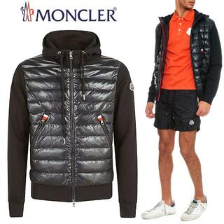 モンクレール(MONCLER)の38 MONCLER  8G52400 809L8 ナイロン切り替えブルゾン L(パーカー)