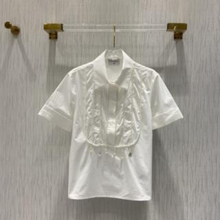 シャネル(CHANEL)のCHANEL コットン混 パールシャツ (シャツ/ブラウス(長袖/七分))