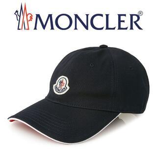 モンクレール(MONCLER)の22 MONCLER  ネイビー ロゴワッペン 帽子 ベースボールキャップ(キャップ)
