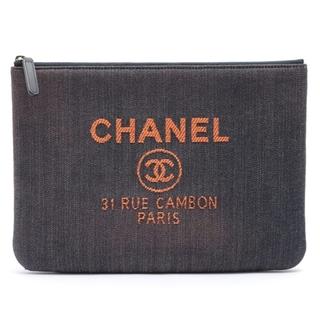 シャネル(CHANEL)のシャネル  デニム  ブルー レディース クラッチバッグ(クラッチバッグ)