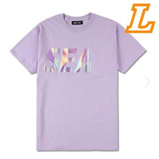 WIND AND SEA WDS ウィンダンシー ロゴTシャツ パープル L(Tシャツ/カットソー(半袖/袖なし))