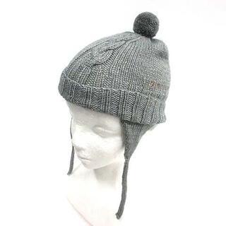 セリーヌ(celine)のセリーヌ CELINE ニット帽 帽子 刺繍 グレー ■OH /AN(帽子)