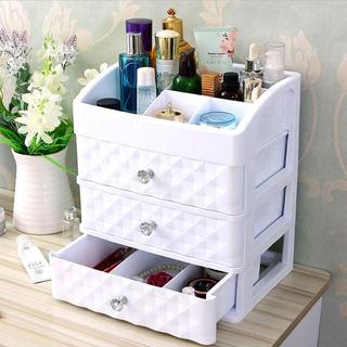 コスメボックス 化粧品収納 メイクボックス 3段引き出し付き(メイクボックス)