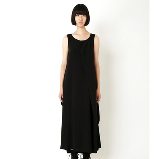 ヨウジヤマモト(Yohji Yamamoto)のヨウジヤマモトTA/PE CREPE DE CHINE FRONT TUCK D(ロングワンピース/マキシワンピース)