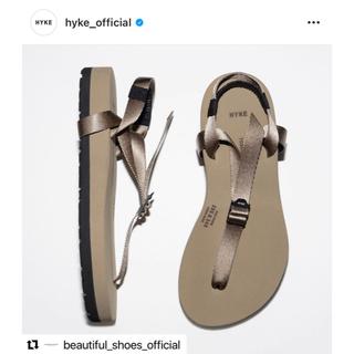 ハイク(HYKE)の【新品】HYKE ビューティフルシューズ 2021 ハイク ブラウン 23.5㌢(サンダル)