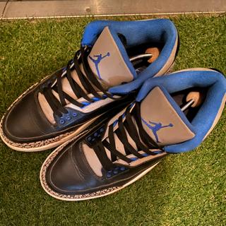 ナイキ(NIKE)のAIR JORDAN 3 sports blue(スニーカー)