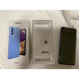 ギャラクシー(galaxxxy)のGalaxy A32 5G SCG08オーサムブルー ホワイト SIMフリー(スマートフォン本体)