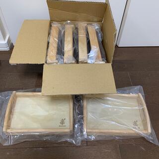ボヌール(Bonheur)の木製トレー6個セット カフェトレー ボヌール(テーブル用品)
