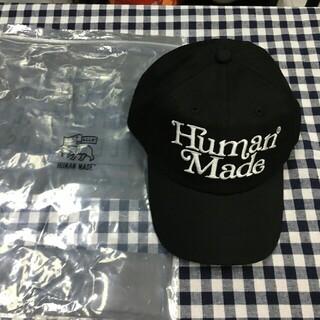 アベイシングエイプ(A BATHING APE)のhuman made キャップ 帽子 ヒューマンメイド ブラック(キャップ)