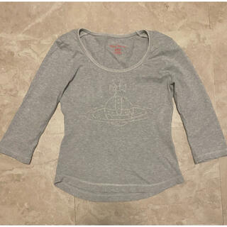 ヴィヴィアンウエストウッド(Vivienne Westwood)のVivienne Westwood RED label グレー七分袖Tシャツ(Tシャツ(長袖/七分))