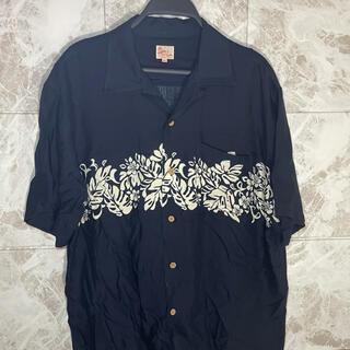 アメリヴィンテージ(Ameri VINTAGE)の90s アロハ 柄シャツ 古着 ビンデージ ハイビスカス 半袖 シャツ(シャツ)
