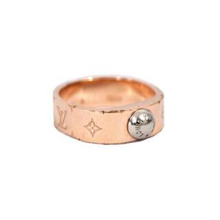 ルイヴィトン(LOUIS VUITTON)のルイヴィトン 指輪 リング バーグ・ナノグラム S ピンクゴールド J3497(リング(指輪))