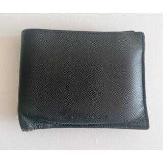 バーバリー(BURBERRY)のBurberry(バーバリー)メンズ財布・二つ折り財布  黒・革(レザー) (折り財布)