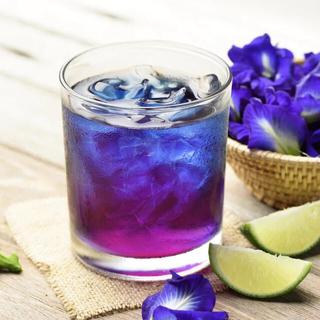 青いお茶 バタフライピー&レモングラス(天然茶葉)ハーブティー 大容量200g(茶)