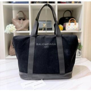 Balenciaga - バレンシアガ トートバッグ キャンバス×レザー ブラック