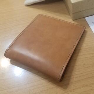 ガンゾ(GANZO)の〈未使用 レア〉GANZO ガンゾ シェルコードバン2 ナチュラル 純札入れ(折り財布)