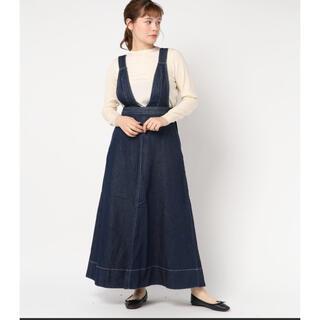 イエナスローブ(IENA SLOBE)のスローブイエナ デニムサロペットスカート 美品(サロペット/オーバーオール)