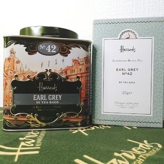 新品 Harrods No,42 アールグレイ ティー 缶 セット(茶)