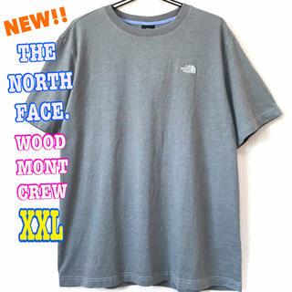 ザノースフェイス(THE NORTH FACE)の厚生地 刺繍ロゴ ♪ ノースフェイス ヘビーウェイト Tシャツ グレー XXL(Tシャツ/カットソー(半袖/袖なし))