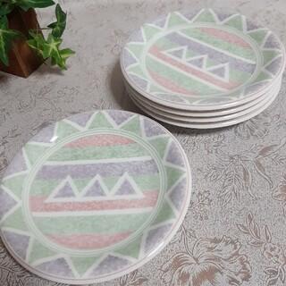 【5枚セット】新品 日本製 美濃焼 パステルカラー 16cm 取皿 ケーキ皿(食器)