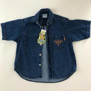 ジーユー(GU)のGU×STUDIOSEVENデニムシャツ 110センチ(ジャケット/上着)