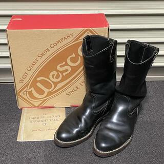 ウエスコ(Wesco)のWESCO ウエスコ ウエスタンボス 黒 9D 箱付 ソール交換済み(ブーツ)