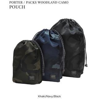 ポーター(PORTER)の PORTER / PACKS WOODLAND CAMO POUCH(ウエストポーチ)