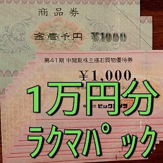 ビックカメラ BS11 1万円分 株主優待(ショッピング)