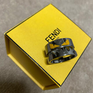 フェンディ(FENDI)の【稀少】FENDI モンスター バグズ シルバー リング 21号(リング(指輪))