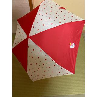 ハローキティ(ハローキティ)の【美品】ハローキティ サンリオ 折り畳み傘 置き傘(傘)