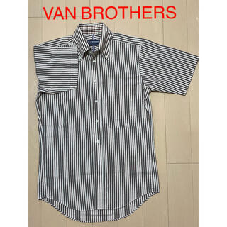 VAN Jacket - VAN BROTHERS/⑫半袖BDシャツ(M)/ブラウン系ストライプ