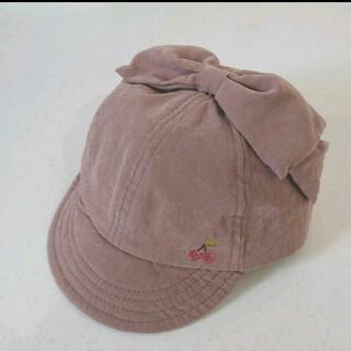 シマムラ(しまむら)のしまむら さくらんぼ りぼん ベビー 50cm~52cm キャップ 帽子 ぼうし(帽子)