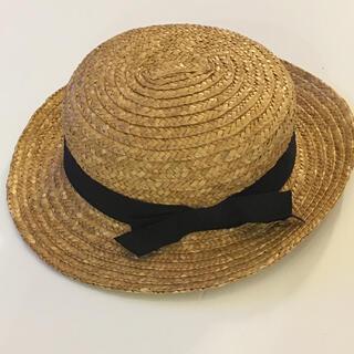 シマムラ(しまむら)のバースデイ 麦わら帽子 カンカン帽 ストローハット(帽子)