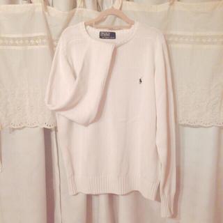 ポロラルフローレン(POLO RALPH LAUREN)のPOLO RALPH LAUREN    used          白セーター(ニット/セーター)