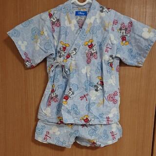 ディズニー(Disney)の甚平  子供用  浴衣 120cm ミッキー ディズニー お祭り(甚平/浴衣)