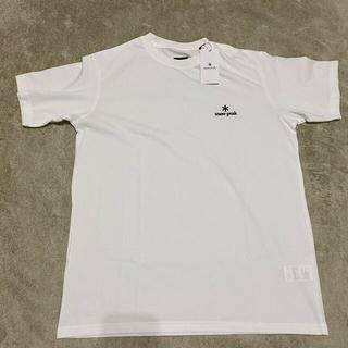 スノーピーク(Snow Peak)のスノーピーク snowpeak 刺繍 ロゴTシャツ サイズL 限定品 白(Tシャツ/カットソー(半袖/袖なし))