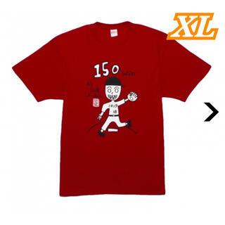 XL 前田健太 150勝記念 Tシャツ 赤 マエケン マエケンタイソウ(Tシャツ/カットソー(半袖/袖なし))